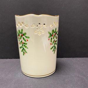 Lenox Holiday Pierced Pillar Candle Holder